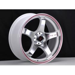 FIAT 500 Custom Wheels - Competizione 17x7.5 (set of 4) - GTR Design - Polished Face/ White Back
