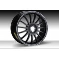 "FIAT 500 Custom Wheels by Team Dynamics - Monza RS - 17"" - Satin Black w/ White Stripe Finish"