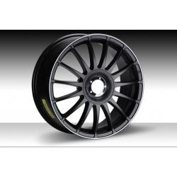 "FIAT 500 Custom Wheels by Team Dynamics - Monza RS - 17"" - Satin Black w/ White Stripe Finish"