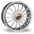 "FIAT 500 Custom Wheels by Team Dynamics - Monza R - 15"" - Hi Power Silver Finish"