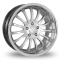 "FIAT 500 Custom Wheels by Team Dynamics - Equinox - 17"" - Hi Power Silver Finish"