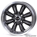 "FIAT 500 Custom Wheels - 15x7"" Rota RB Wheels - Set of 4 - Gunmetal Finish"