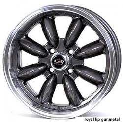 "FIAT 500 Custom Wheels - 15x7"" Rota RB Wheels - Set of 4 - Gunmetal Finish"