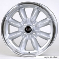 "FIAT 500 Custom Wheels - 15x7"" Rota RB Wheels - Set of 4 - Silver Finish"
