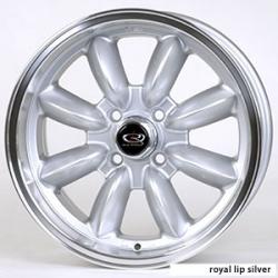 "FIAT 500 Custom Wheels - 15x7"" Rota RB Wheels - Set of 4 - Silver Finish"