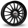 "FIAT 500 Custom Wheels by Team Dynamics - Monza R - 15"" - Satin Black Finish"