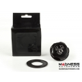 FIAT 500 Oil Cap - Scorpion Logo - Black Anodized Billet