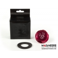 FIAT 500 Oil Cap - Scorpion Logo - Red Anodized Billet