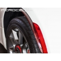 FIAT 500 Splashguards in Carbon Fiber (2 Pieces) - Red Candy
