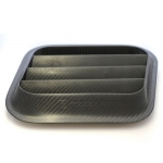FIAT 500 ABARTH Trofeo Limited & NACA Carbon Fiber Air Intake Set (2) by Pogea Racing - Carbon Fiber with a Clear Coat Finish